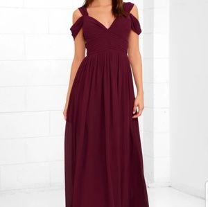 Lulu's Burgundy gown